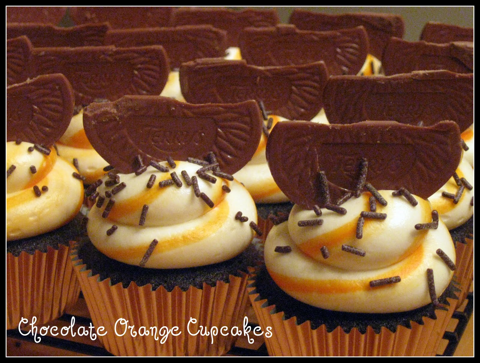 carrot cupcakes with orange icing dark chocolate orange cupcakes bake ...