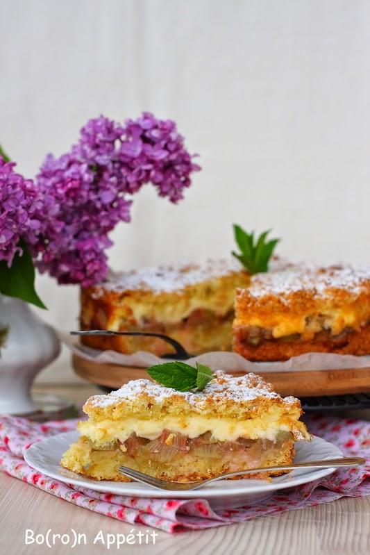 Przepis na kruche ciasto z rabarbarem