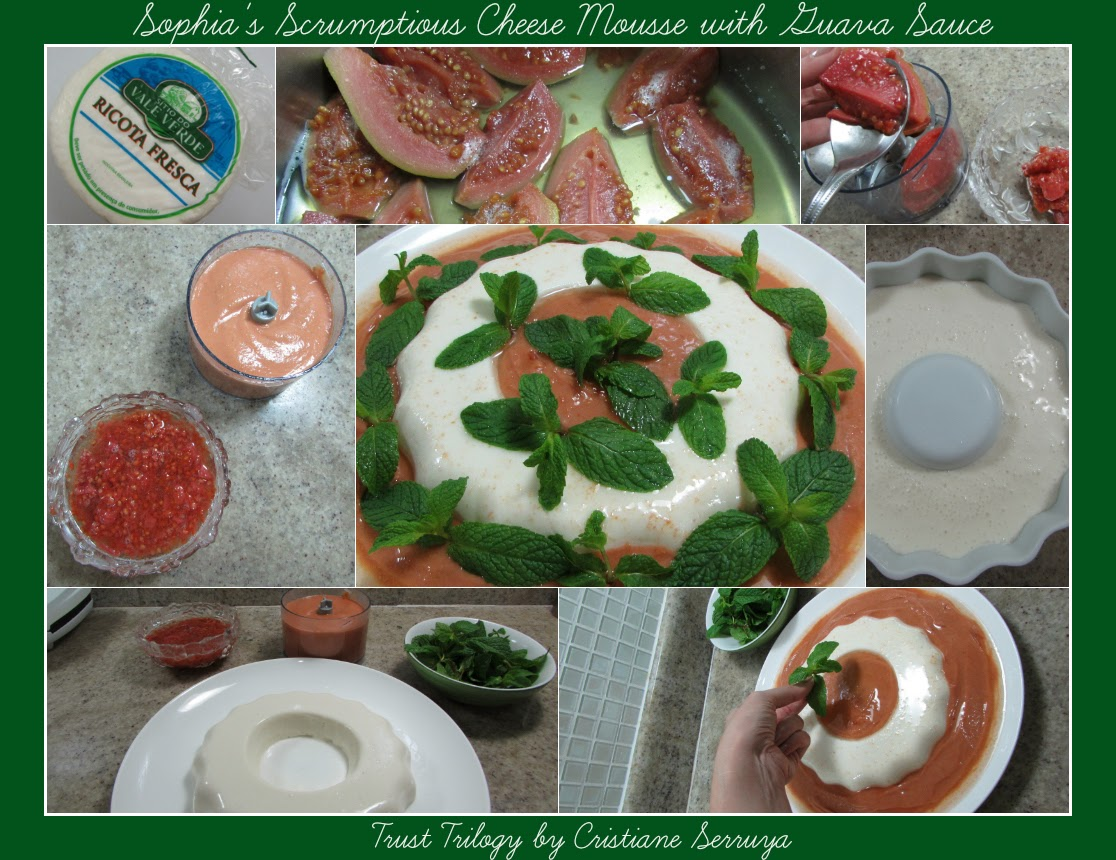Sophia's Cheese Mousse With Guava Sauce €�