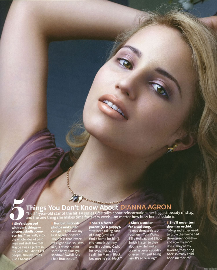 Fresh Look Celebrity Dianna Agron Hairstyles 04