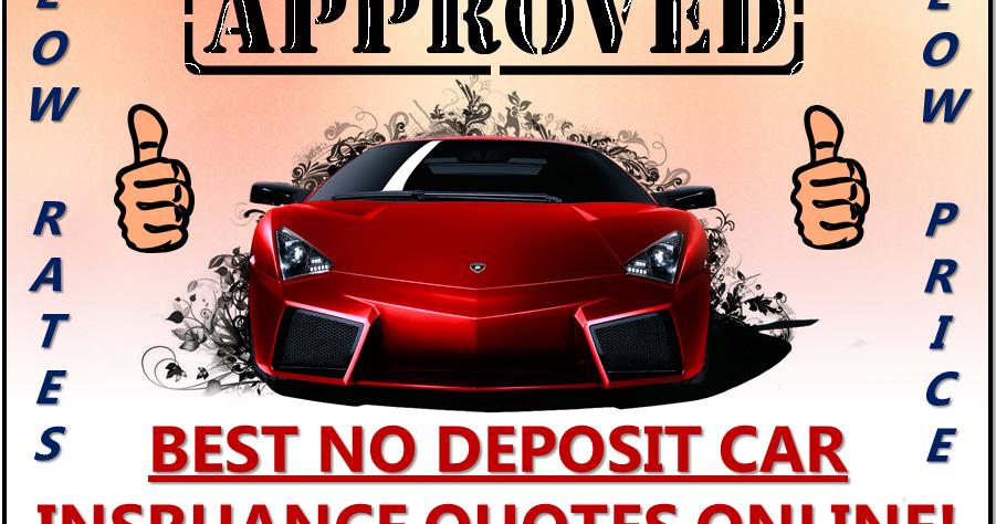 Cheap No Deposit Car Insurance Policy Low Deposit Zero