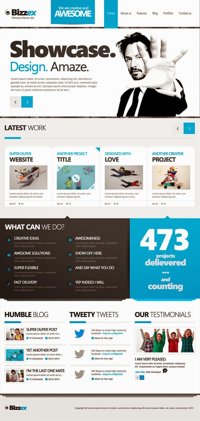 Bizzex PSD Website Template