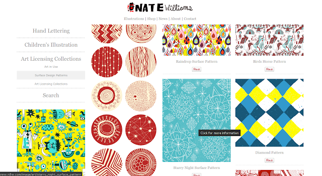 Seção dedicada aos Patterns do site do Nate Williams.