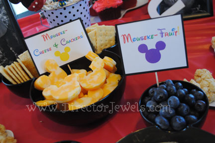 Mickey Mouse Clubhouse Birthday Party Toddler-Friendly Food Ideas