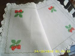 Toalha de bandeja morango