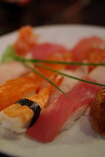 Mixed seafood sushi image
