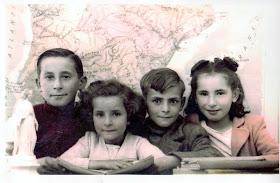 Pedro, Susi, Paco e Isabelita Salas.1.945