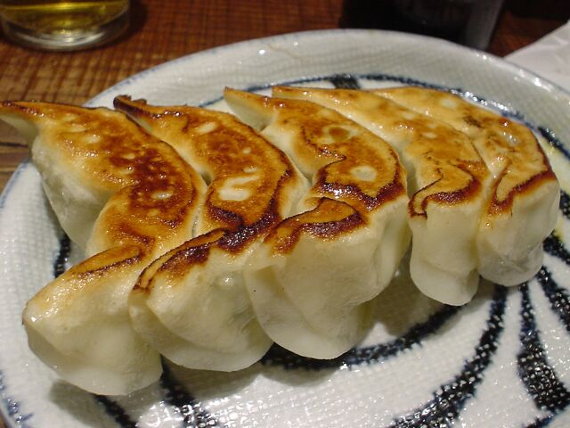 gyoza curry potstickers shrimp pork dumplings ebi to butaniku no gyoza ...