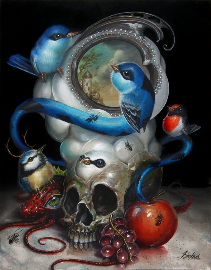 16-Dream-Catchers-Greg-Craola-Simkins-Fantastical-Surreal-Paintings-Full-of-Details