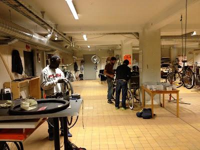 bike repair space in Dockan, Malmo