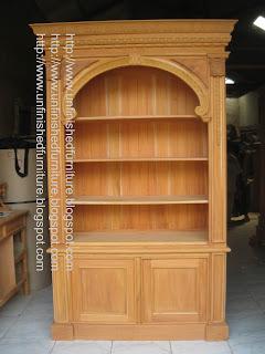 Furniture klasik almari buku rak buku klasik rak buku unfinished mentah mahoni supplier mebel klasik jepara almari buku klasik mentah rak buku mentah