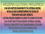 Arizona Cultural Influences by Bob Atkinson