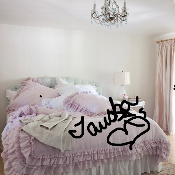 simply me i ordered it the petticoat bedding in pink. Black Bedroom Furniture Sets. Home Design Ideas