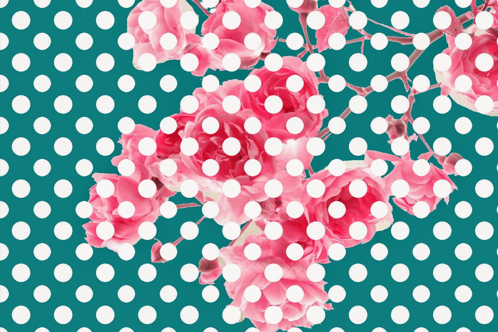 Doodlecraft wild rose blossoms polka dot wallpaper for Polka dot wallpaper