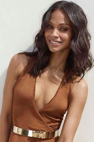 zoe saldana breasts boobs