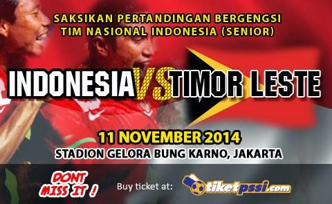 Timnas Indonesia Senior vs Timor Leste Uji Coba 2014