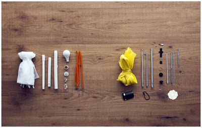 Сравнение сборочных компонентов нового полипропиленового и обычного зонтов
