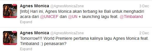 Lagu Terbaru Agnes Monica Feat Timbaland Dikenalkan Dikenalkan