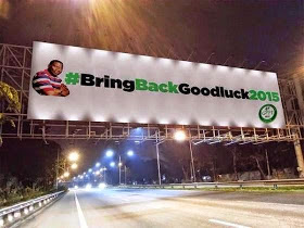 #BringBackJonathan2015 campaign banner in Abuja