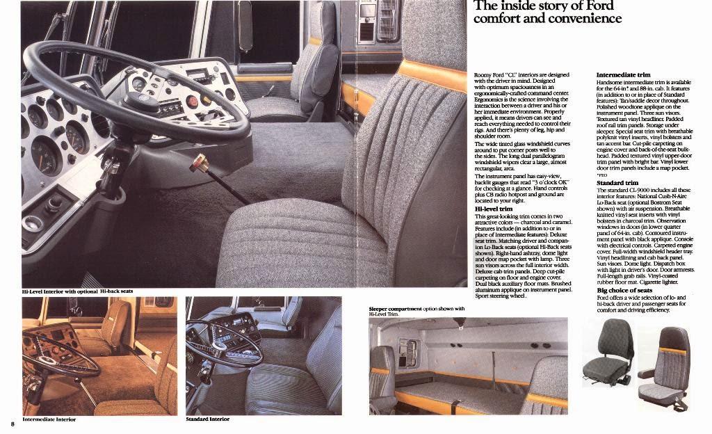 Ford 9000 Cabover Interior : Dieciocho ruedas ford cl el ultimo c o e americano