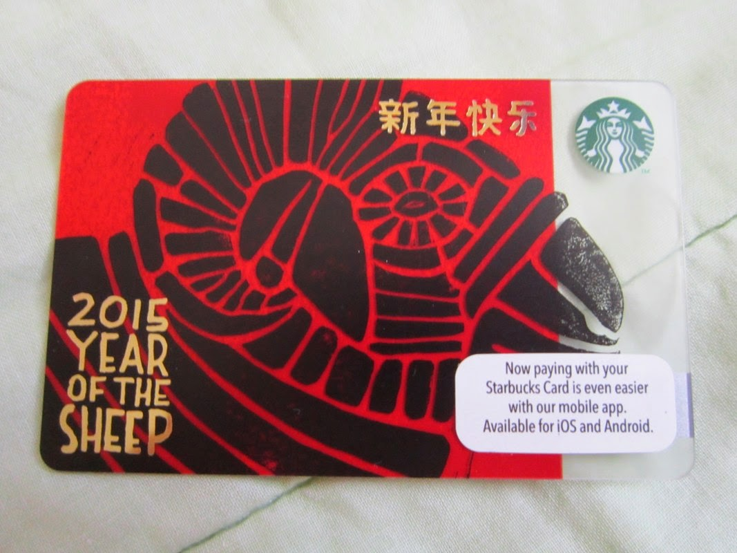 Starbucks Coffee Malaysia Asia Chinese New Year of the Sheep Goat limited card edition