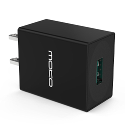 [Qualcomm Certified] MoKo 12W Qualcomm Quick Charge 2.0 Technology 1-Port USB Wall Fast Charger for Samsung Galaxy S6, S6 Edge, Note 4 / Edge, Google Nexus 6, HTC One M9, LG G4 and More