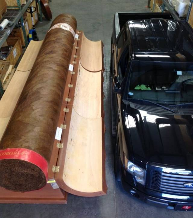 Juan Panesso has had a lot of strange requests over the years he's managed his online cigar store-- but a 20-foot long stogie with a $200,000 price tag was easily the strangest.