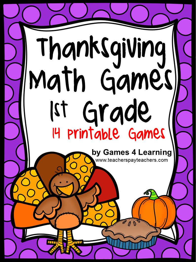 Fun Games 4 Learning: Thanksgiving Math Games