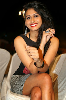 Actress Nitya Naresh  Pictures in Short Dress at Kerintha Audio Release Function  0113.jpg