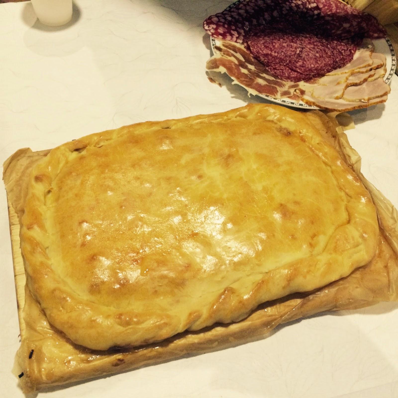 Пирог рыбный с капустой рецепт