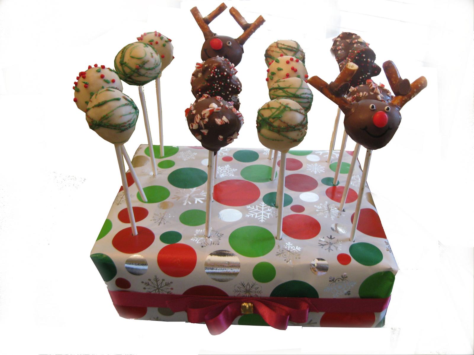 the cake baketress christmas cake pops. Black Bedroom Furniture Sets. Home Design Ideas