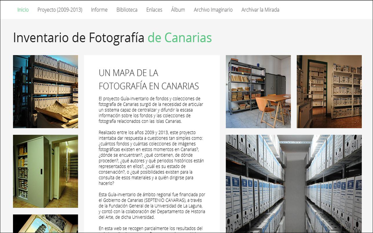Proyecto Guía-Inventario de fondos y colecciones de fotografía de Canarias