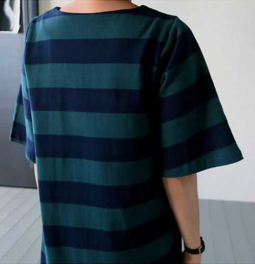 Loose Pocketed Striped Dress