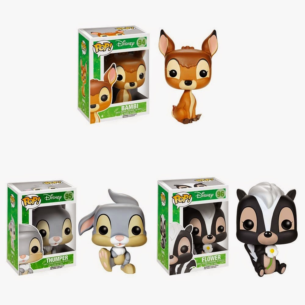 Bambi Pop! Disney Vinyl Figures by Funko - Bambi, Thumper & Flower