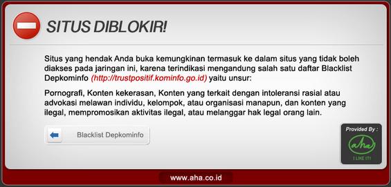 ... situs website yang diblokir admin, dapat di download disini atau