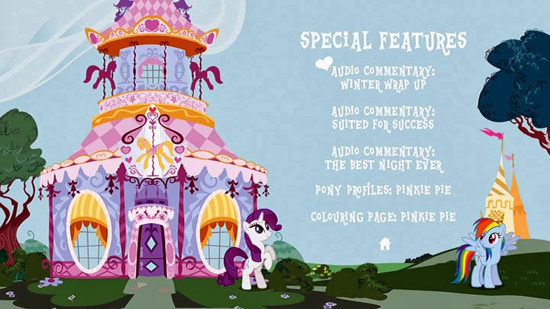 A Pony Party extras menu