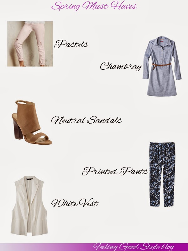 Spring, spring essentials, spring must-haves, chambray, Target, Steve madden, printed pants, pastel pants, Victoria's Secret