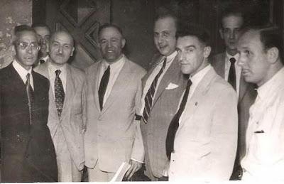 1951 - Visita del equipo lisboeta al local social del Club Ajedrez Ruy López Tívoli 09