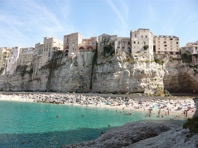 Shoreline houses in Tropea, Italy