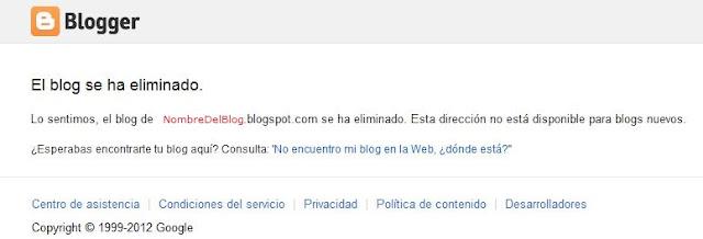 Blogs eliminados por spam en blogger la mayoria de las veces son por malas practicas e ir en contra de las politicas de contenido y las directrices de Google