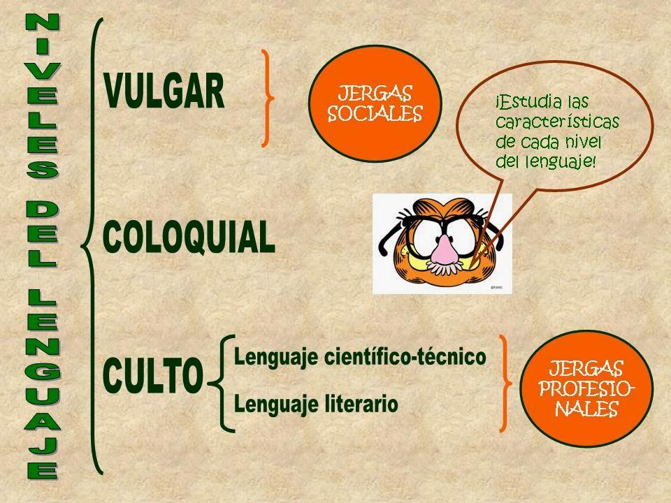 lenguaje vulgar ejemplos: