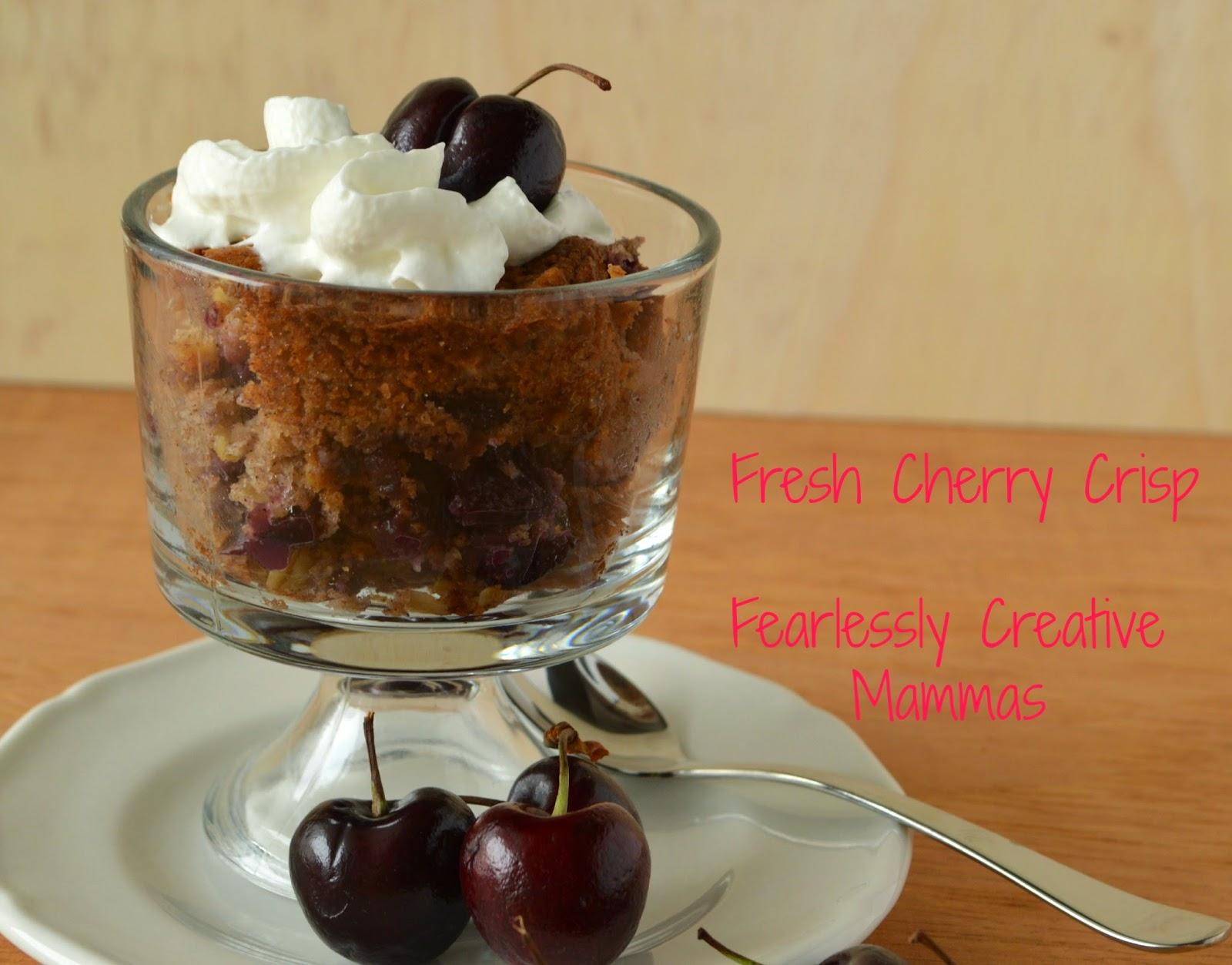 Fresh Cherry Crisp #FoodieExtravaganza