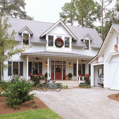 Seaside style images of a low country christmas for Low country homes