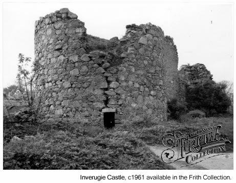 Image of Inverugie Castle, c1961