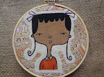 Embroidery Hoop Painting