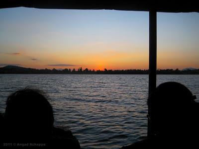 sunset at kabini