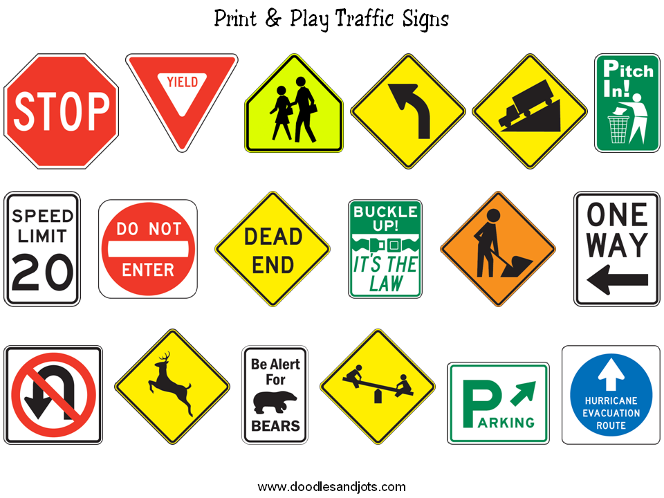 Agile image pertaining to printable street signs