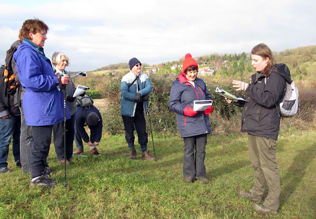 Jenny Price (right) addressing a group near Pratts Bottom on the Green Street Green circular walk