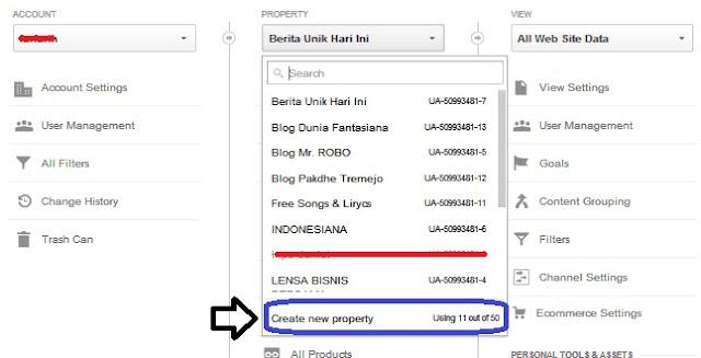 Cara Menambah Property Blog pada Google Analytics