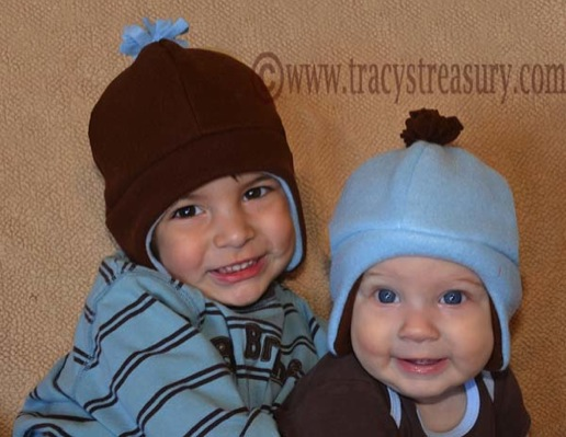 Tracy s Treasury  Fleece Hat with Ear Flaps - Tutorial and Printable ... acae63abe4de